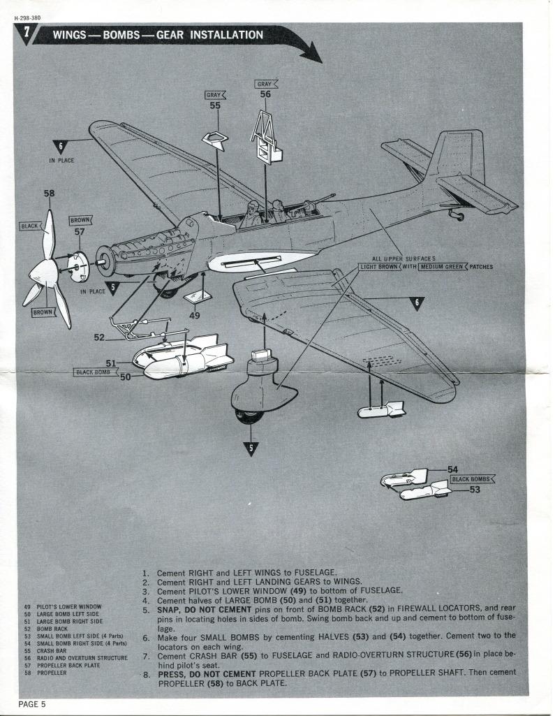Revell_Stuka_24 Kit-Archäologie: Die Stuka Junkers Ju-87B von Revell - 1/32 - 1969