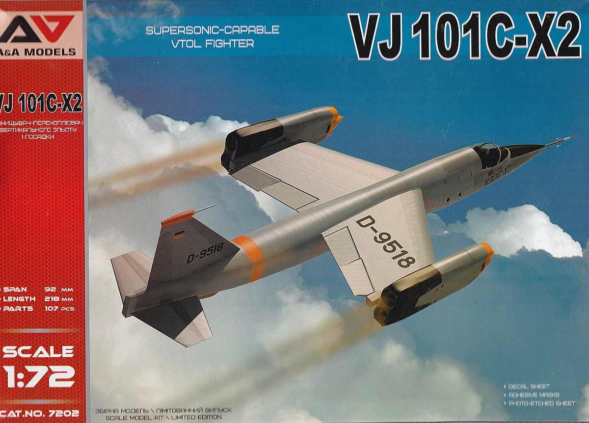 AA-Models-7202-VJ-101C-X2-1 Senkrechtstarter VJ 101C-X2 in 1:72 von A&A Models  Art.Nr. 7202