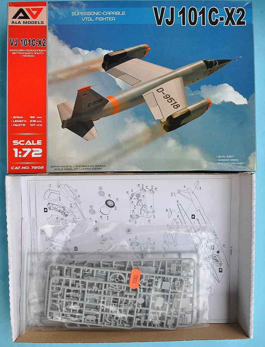 AA-Models-7202-VJ-101C-X2-10 Senkrechtstarter VJ 101C-X2 in 1:72 von A&A Models  Art.Nr. 7202