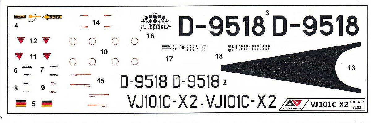 AA-Models-7202-VJ-101C-X2-7 Senkrechtstarter VJ 101C-X2 in 1:72 von A&A Models  Art.Nr. 7202