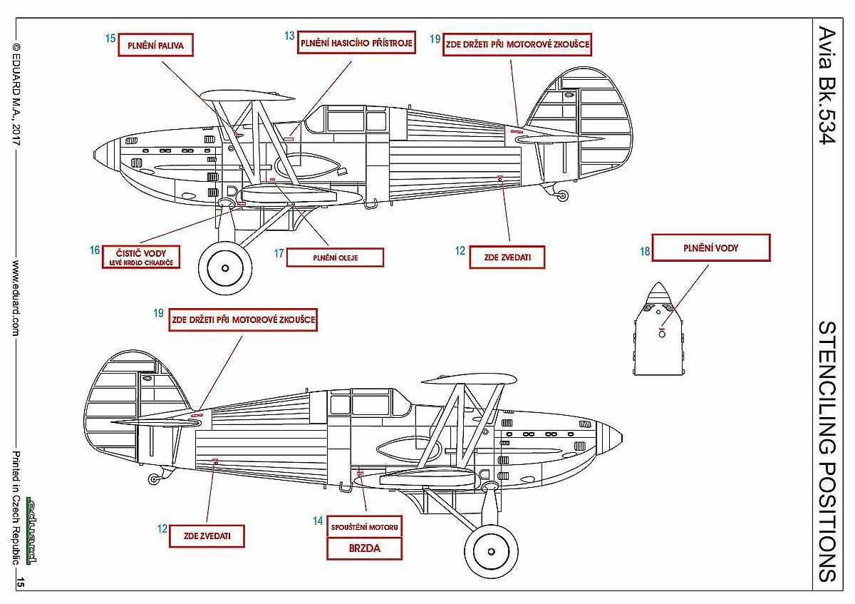 Eduard-70105-Avia-Bk.534-Luftwaffe-10 Avia Bk.534 von Eduard ( # 70105 )