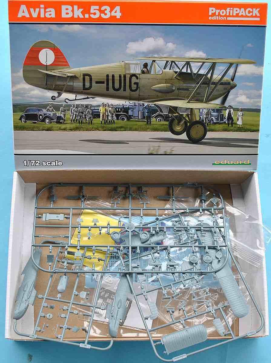 Eduard-70105-Avia-Bk.534-Luftwaffe-12 Avia Bk.534 von Eduard ( # 70105 )