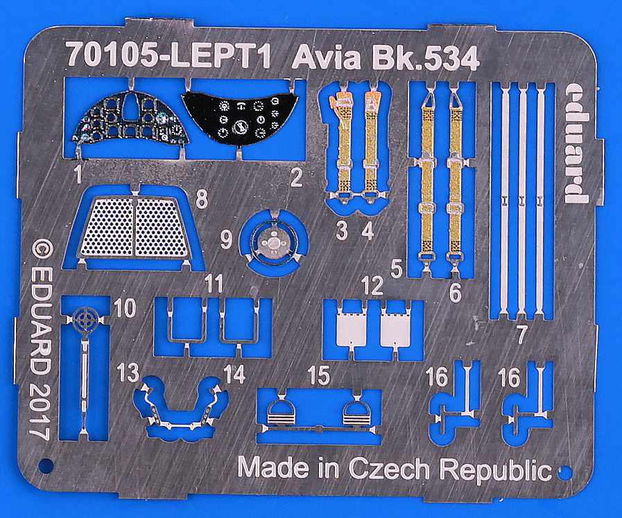 Eduard-70105-Avia-Bk.534-Luftwaffe-46 Avia Bk.534 von Eduard ( # 70105 )