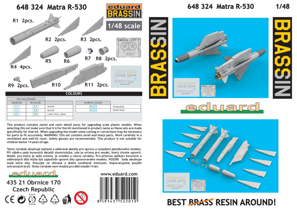 Eduard_Matra_R-530_12 Matra R-530, R-550 Magic und R-550 Magic 2 - Eduard BRASSIN 1/48