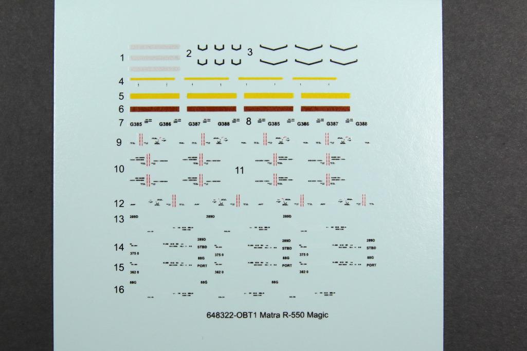 Eduard_Matra_R-550_02 Matra R-530, R-550 Magic und R-550 Magic 2 - Eduard BRASSIN 1/48