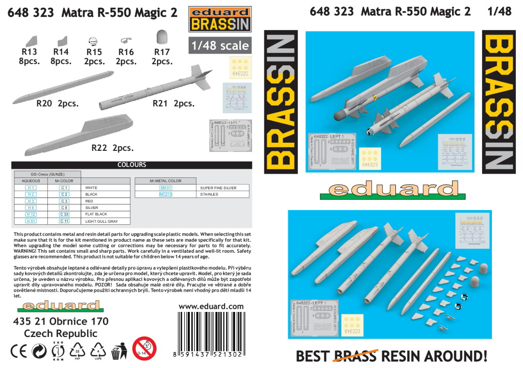Eduard_Matra_R-550_2_11 Matra R-530, R-550 Magic und R-550 Magic 2 - Eduard BRASSIN 1/48