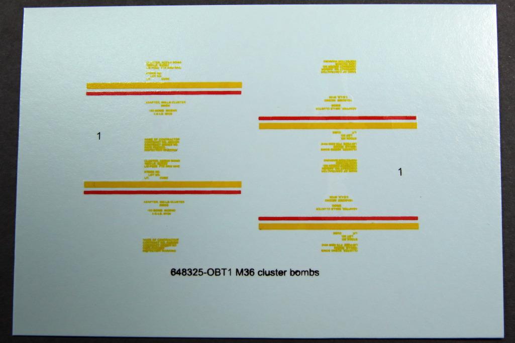 M36_Cluster_Bomb_Eduard_04 M36 Cluster Bomb - Eduard BRASSIN 1/48
