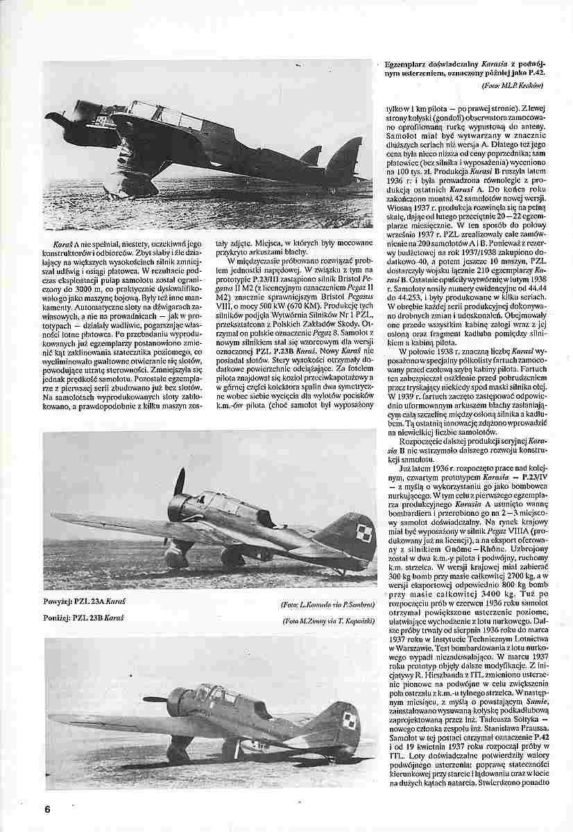 Monografie-Lotnicze-23-PZL-P-4 Literatur zur PZL P.23 Karas