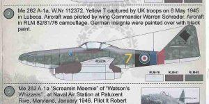 Messerschmitt Me 262 Schwalbe in 1:72 von PrintScale ( 72-125 )