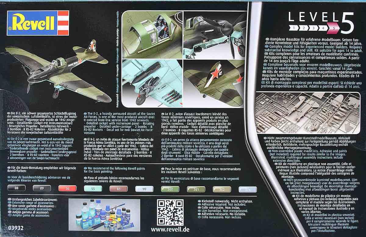 Revell-03932-Il-2-Stormovik-4 Iljuschin Il-2 in 1:48 von Revell (03932)