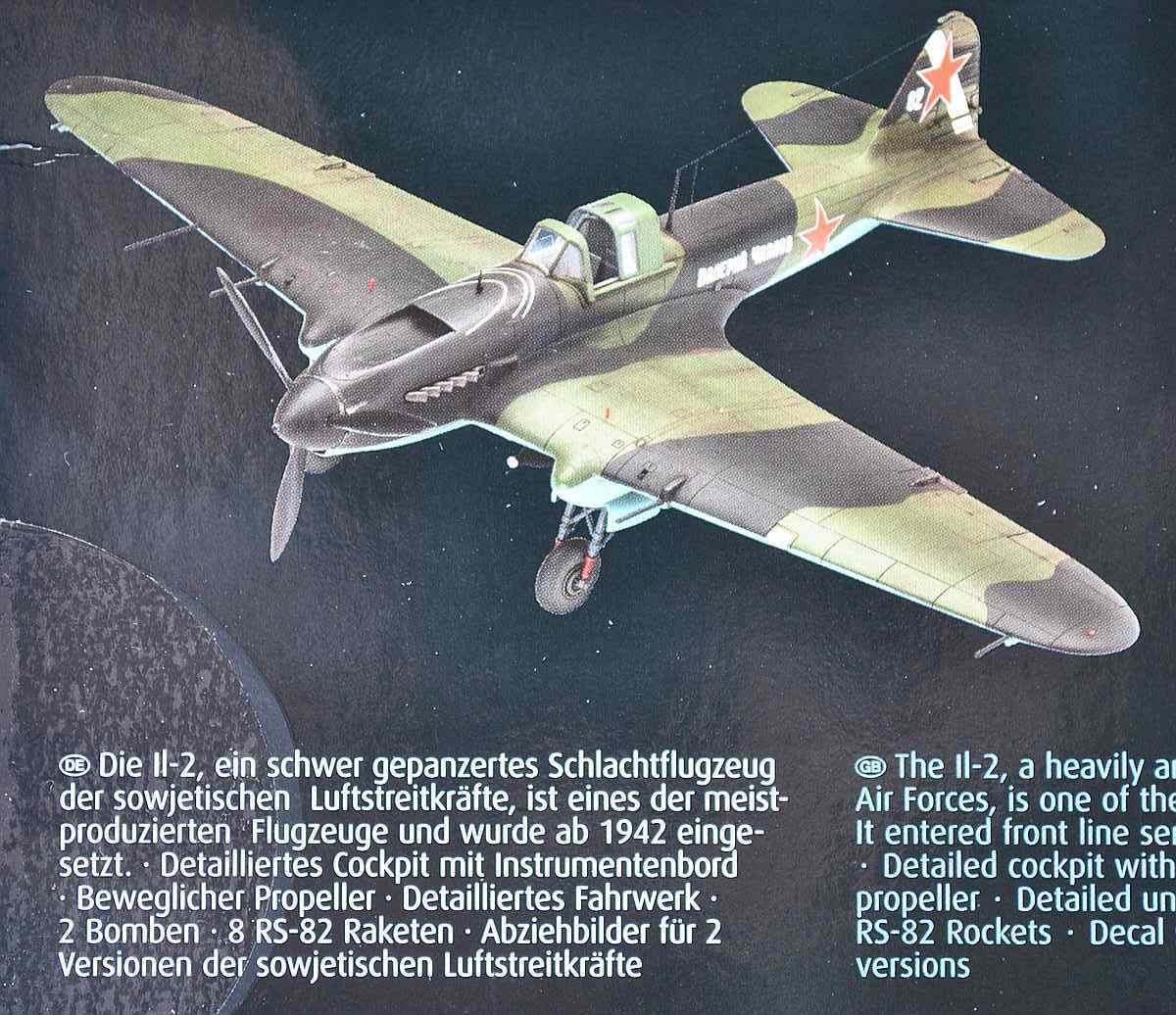 Revell-03932-Il-2-Stormovik-5 Iljuschin Il-2 in 1:48 von Revell (03932)