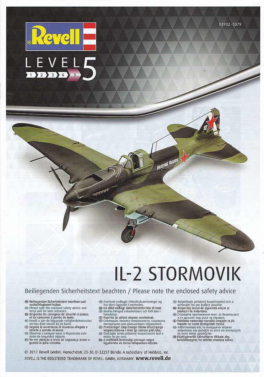 Revell-03932-Il-2-Stormovik-58 Iljuschin Il-2 in 1:48 von Revell (03932)