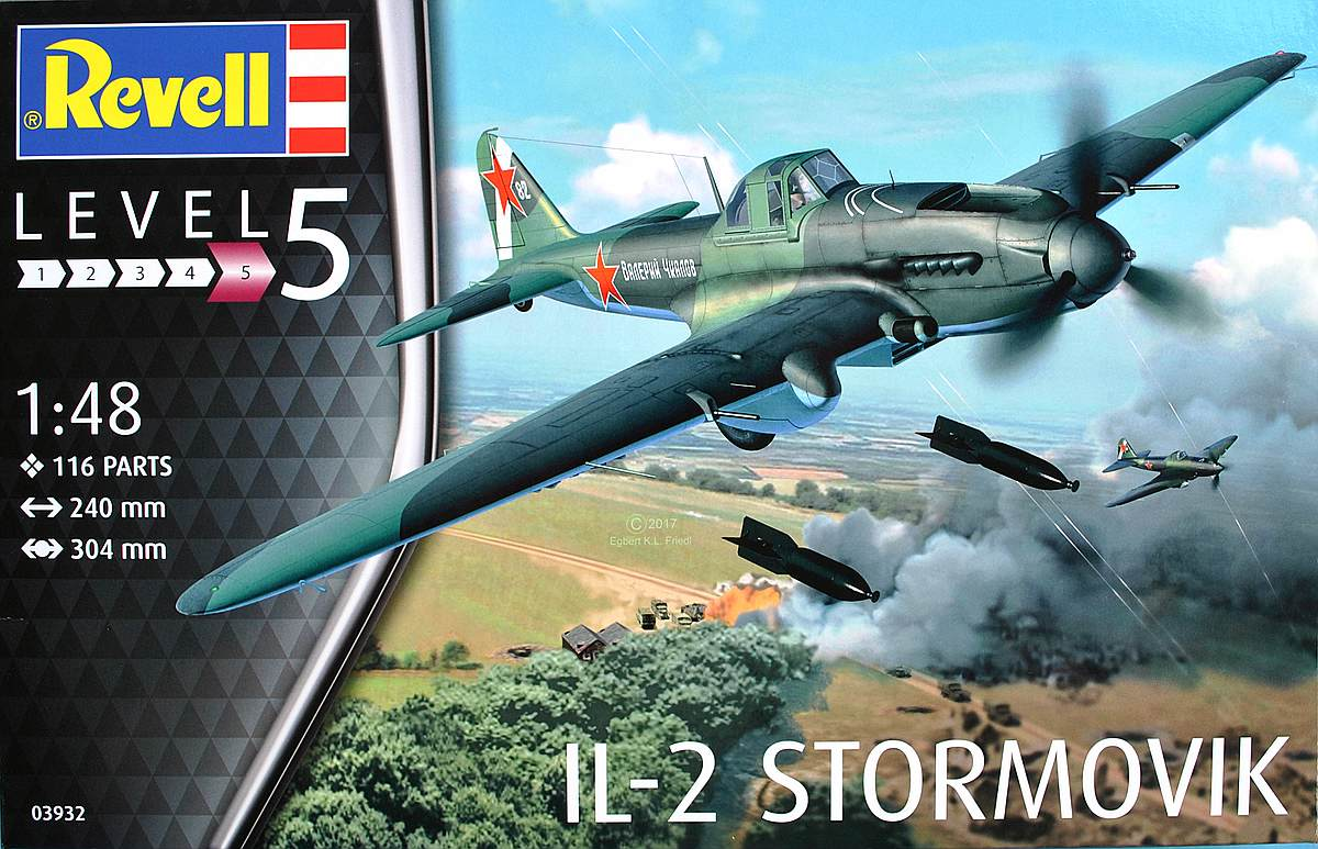 Revell-03932-Il-2-Stormovik-6 Iljuschin Il-2 in 1:48 von Revell (03932)