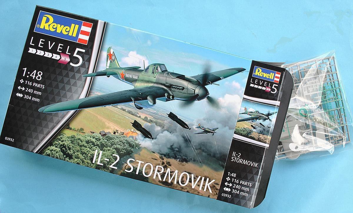 Revell-03932-Il-2-Stormovik-8 Iljuschin Il-2 in 1:48 von Revell (03932)