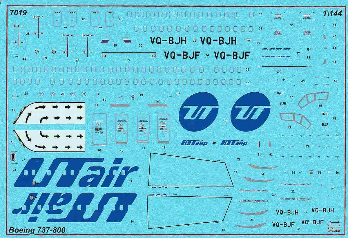 Zvezda-7019-Boeing-737-800-7 Boeing 737-800 in 1:144 von Zvezda ( 7019 )