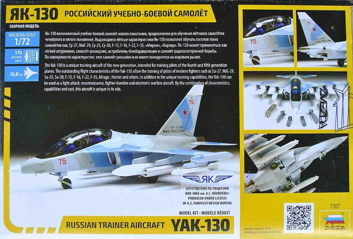 Zvezda-7307-Jak-130-16 Yakovlev Yak-130 in 1:72 von Zvezda (7307)