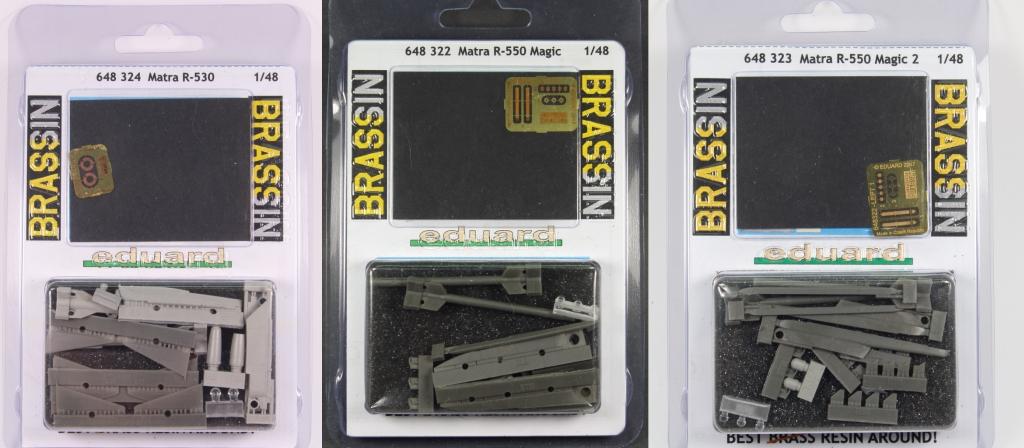 Zwischenablage Matra R-530, R-550 Magic und R-550 Magic 2 - Eduard BRASSIN 1/48