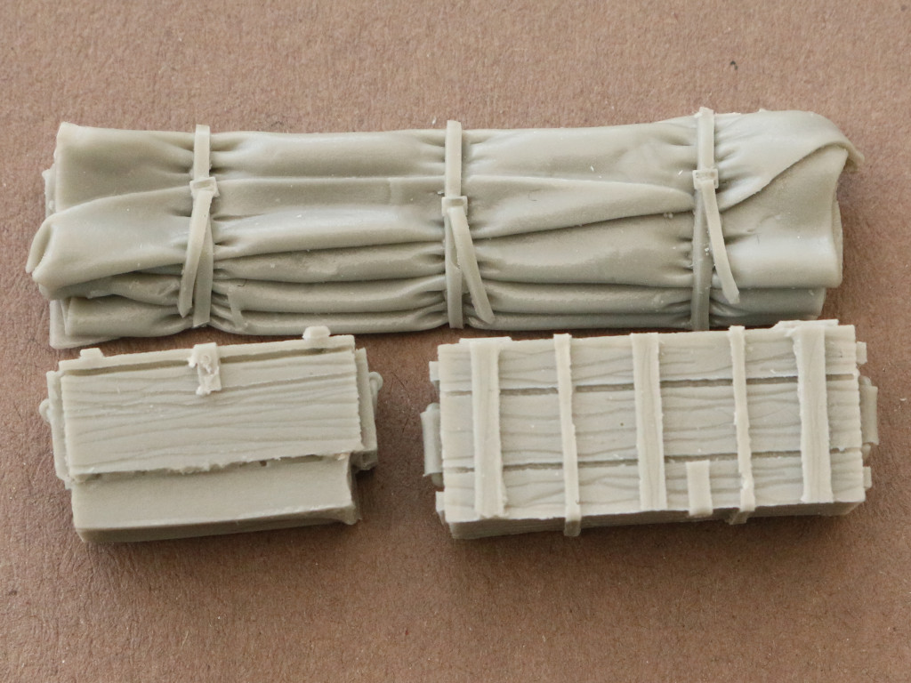 4-1 U.S. M3A1 Scout Car accessories set 1:35 Black Dog (#T35049)