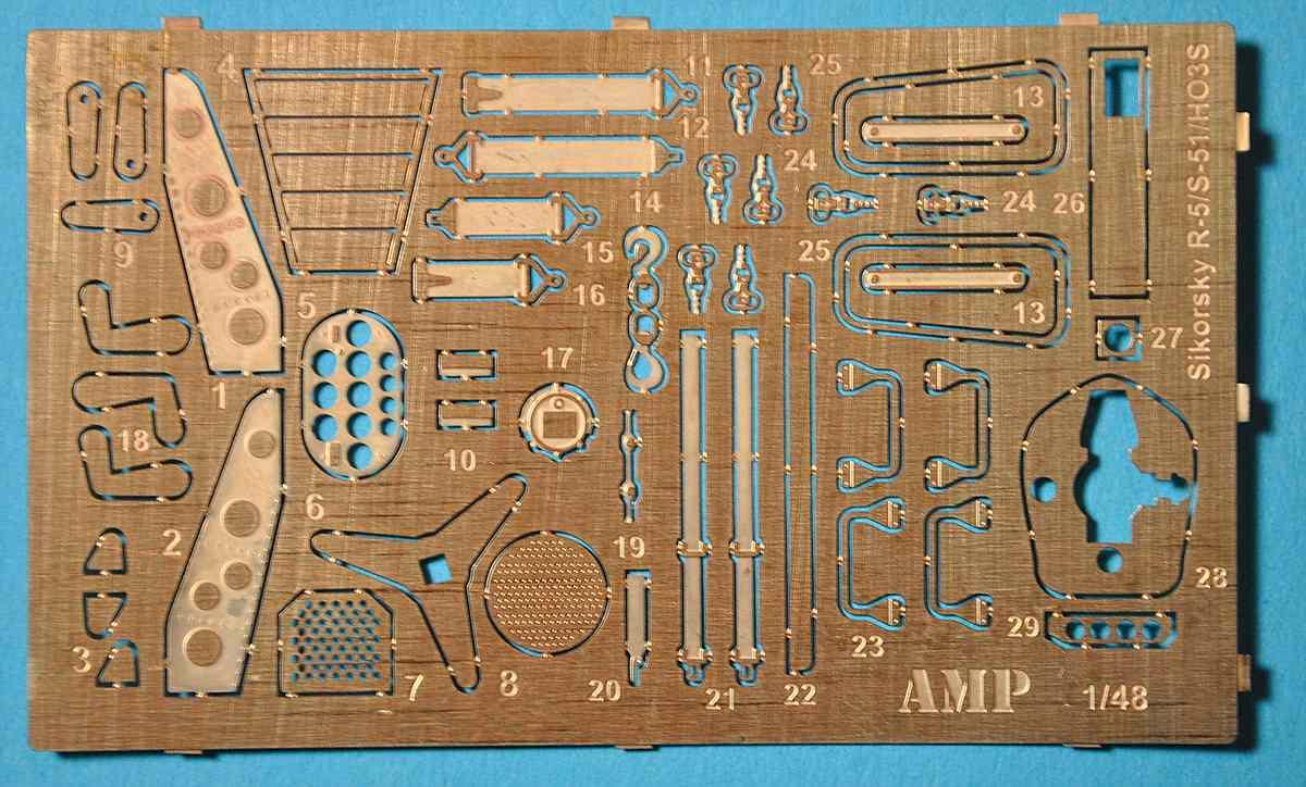 AMP-48001-Sikorsky-HO3S-1-14 Sikorsky HO3S-1 ( S-51) in 1:48 von AMP (48001)
