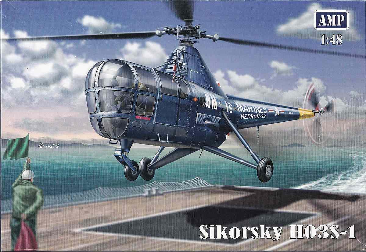 AMP-48001-Sikorsky-HO3S-1-30 Sikorsky HO3S-1 ( S-51) in 1:48 von AMP (48001)