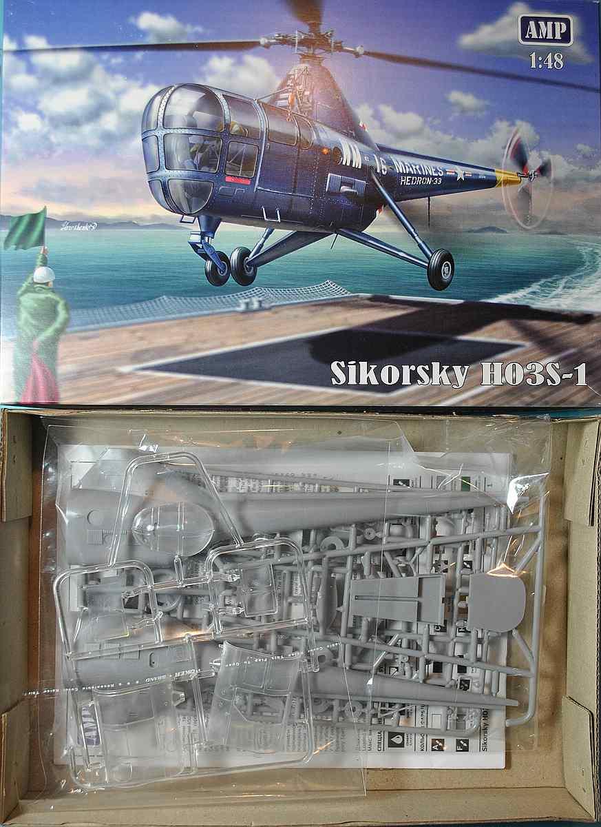 AMP-48001-Sikorsky-HO3S-1-7 Sikorsky HO3S-1 ( S-51) in 1:48 von AMP (48001)