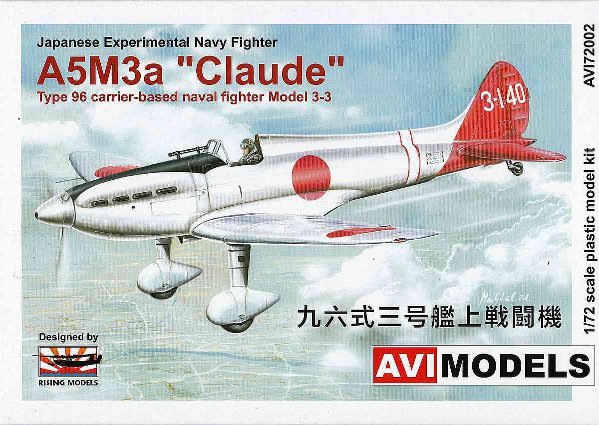 "AVI-Models-72002-Mitsubishi-A5M3a-Claude-8 Mitsubishi A5M3a ""Claude"" mit Reihenmotor von AVIModels 72002"