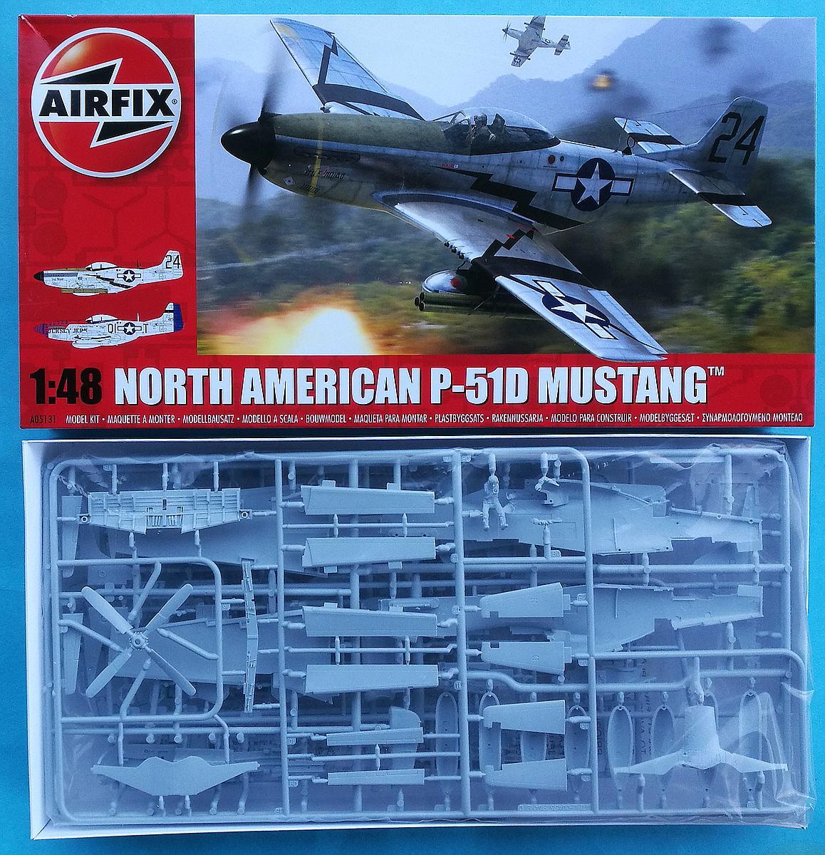 Airfix-A05131-P-51D-Mustang-1zu48-13 P-51D Mustang in 1:48 von Airfix A05131