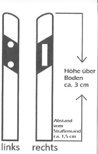 Anleitung-1 Leitpfähle - 8 Stück 1:35 Dio-Factory - Nr. 1003