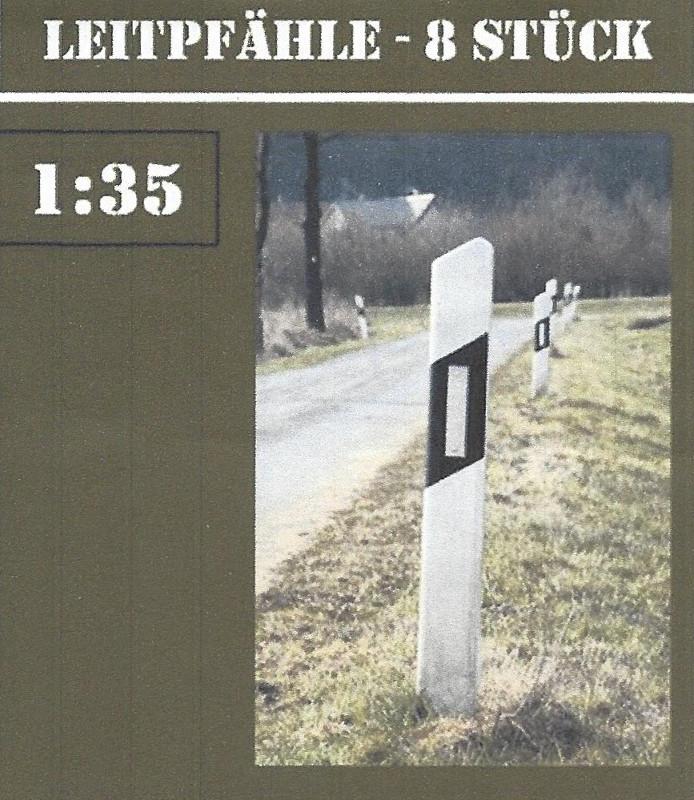 Boxart-2 Leitpfähle - 8 Stück 1:35 Dio-Factory - Nr. 1003