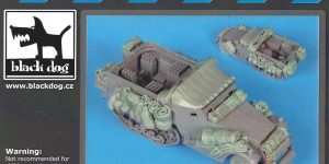 M4 Mortar Carrier big accessories set 1:35 Black Dog (#T35123)
