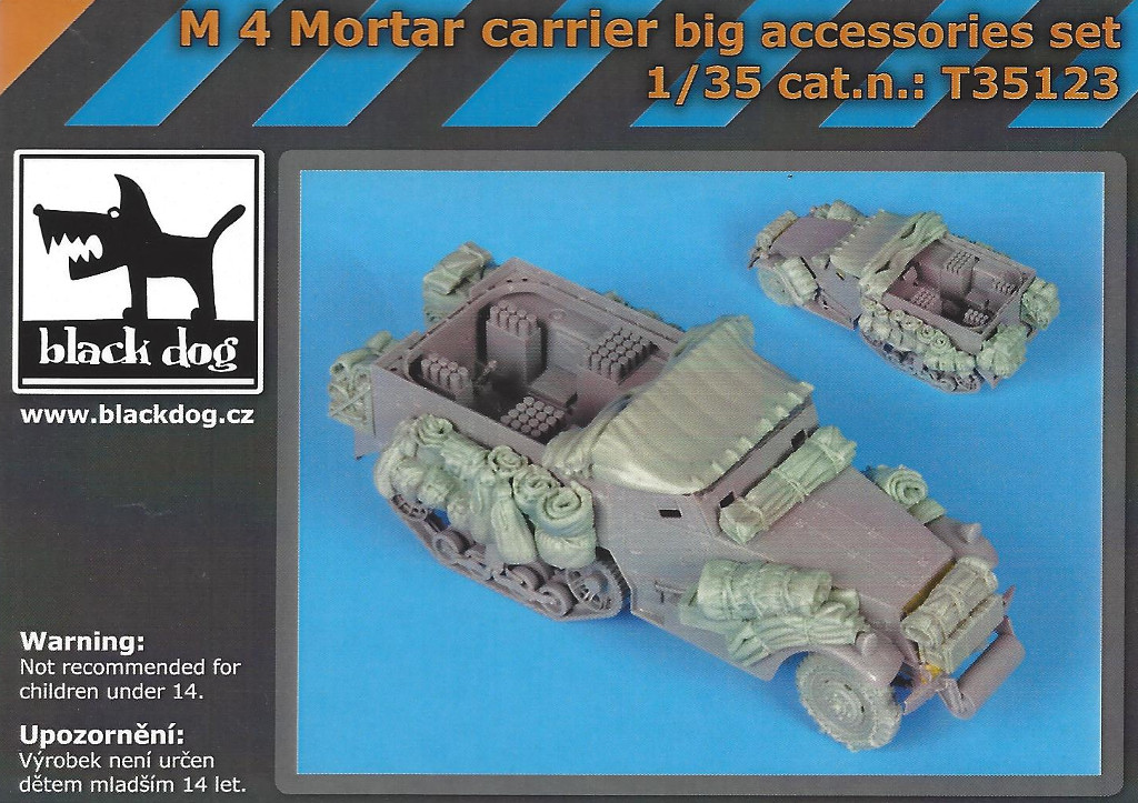 Boxart-3 M4 Mortar Carrier big accessories set 1:35 Black Dog (#T35123)
