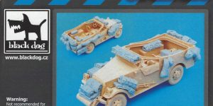 U.S. M3A1 Scout Car accessories set 1:35 Black Dog (#T35049)