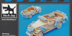 U.S. M3A1 Scout Car accessories set 1:35 Black Dog (#T35049)
