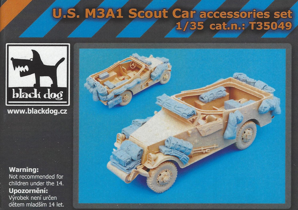 Boxart-4 U.S. M3A1 Scout Car accessories set 1:35 Black Dog (#T35049)