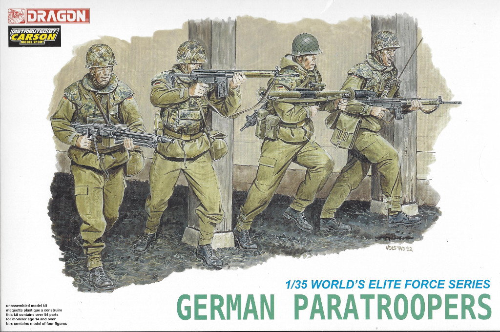 Boxart German Paratroopers Dragon 1:35 #3021