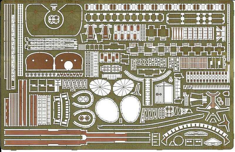 Eduard-53199-RN-Roma-Pt.1-Main-deck-and-guns-7 Photoätzteile für die ROMA von Trumpeter in 1:350 (Eduard 53199 und 53200)
