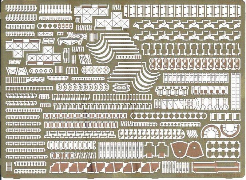 Eduard-53200-RN-Roma-pt.2-AA-guns-Platine-1 Photoätzteile für die ROMA von Trumpeter in 1:350 (Eduard 53199 und 53200)