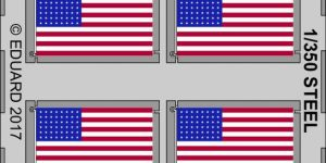 US Navy Ensign Flag in 1:350 (Eduard 53202)