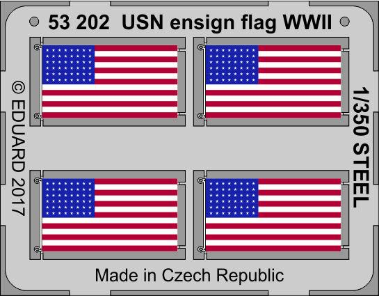 Eduard-53202-USN-Ensign-Flag-WW-II-1 US Navy Ensign Flag in 1:350 (Eduard 53202)