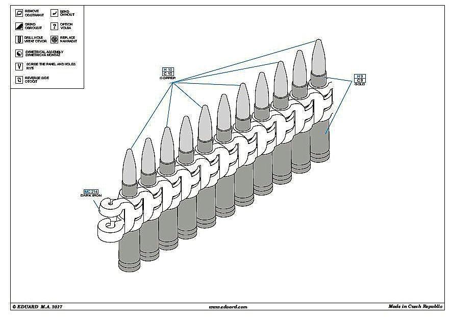 Eduard-648341-Ammo-belts-127mm-7 EDUARD Zubehörsets für die P-51D Mustang von Airfix in 1:48