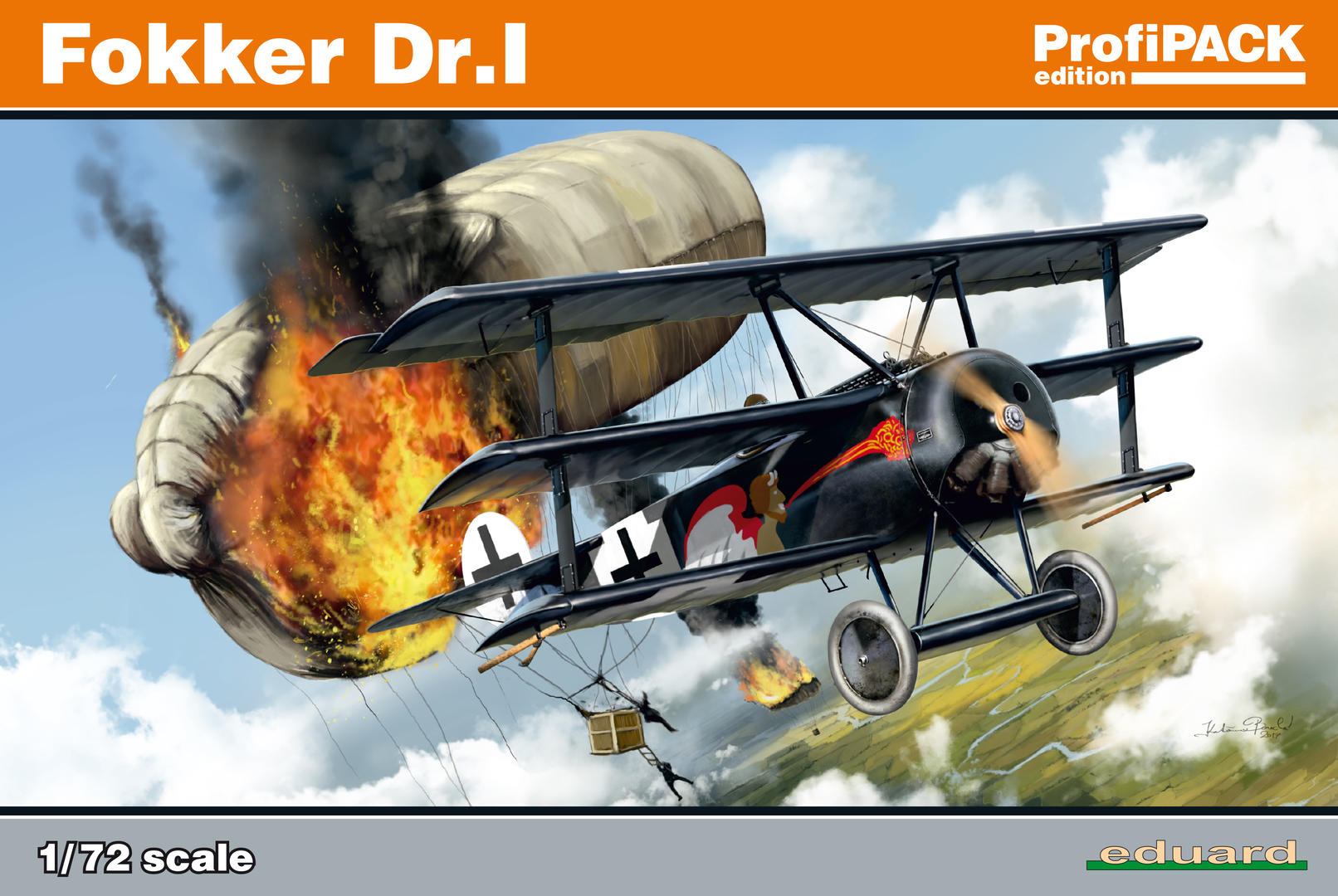 Eduard-7039-Fokker-Dr.I-Profipack-Deckelbild Fokker Dr.I Profipack von Eduard in 1:72 (# 7039)
