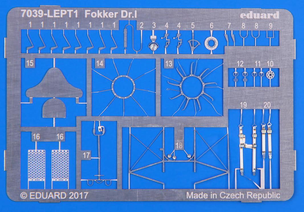Eduard-7039-Fokker-Dr.I-Profipack-Photoätzteile Fokker Dr.I Profipack von Eduard in 1:72 (# 7039)