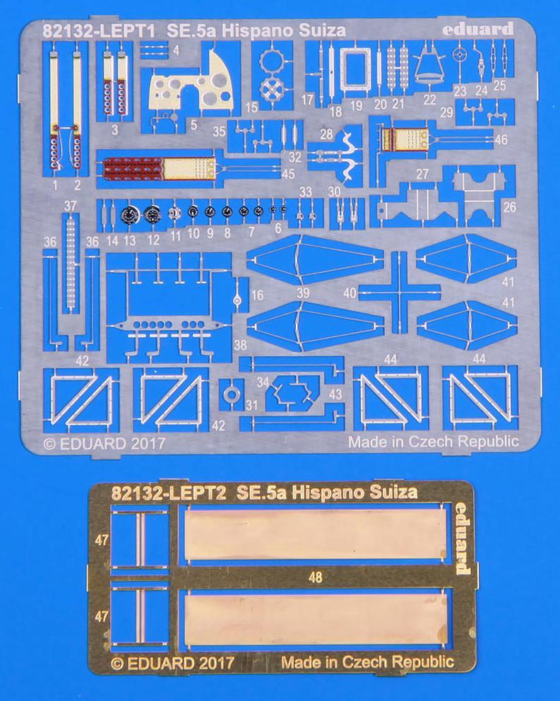 Eduard-82132-SE.5a-Hispano-Suiza-PROFIPACK-Ätzteile SE.5a Hispano Suiza in 1:48 als PROFIPACK-Edition (Eduard 82132)