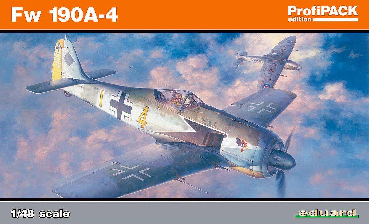 Eduard-82142-FW-190-A-4-Profipack-1 Focke Wulf FW 190 A-4 in 1:48 von Eduard als PROFIPACK-Edition 82142