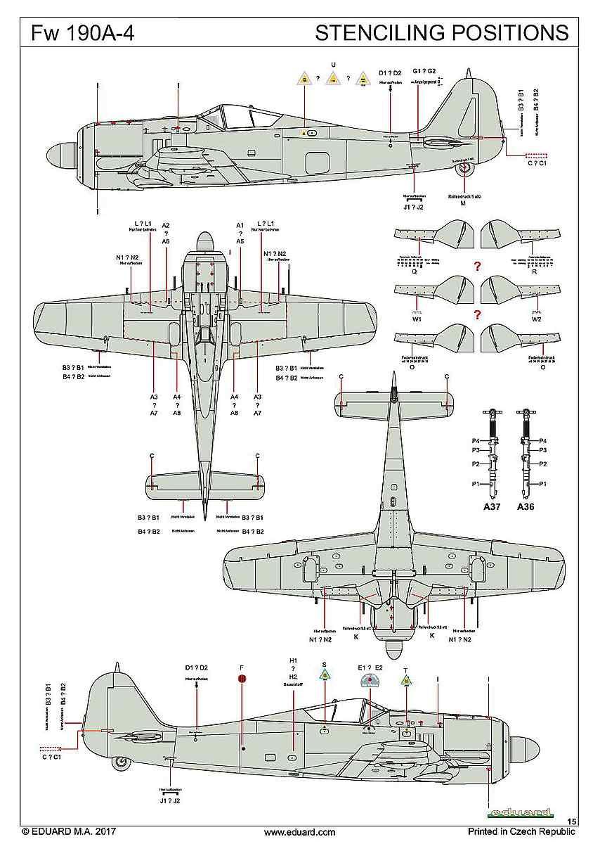 Eduard-82142-FW-190-A-4-Profipack-15 Focke Wulf FW 190 A-4 in 1:48 von Eduard als PROFIPACK-Edition 82142