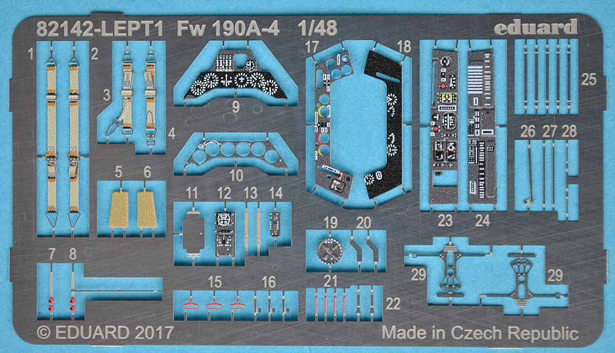 Eduard-82142-FW-190-A-4-Profipack-20 Focke Wulf FW 190 A-4 in 1:48 von Eduard als PROFIPACK-Edition 82142