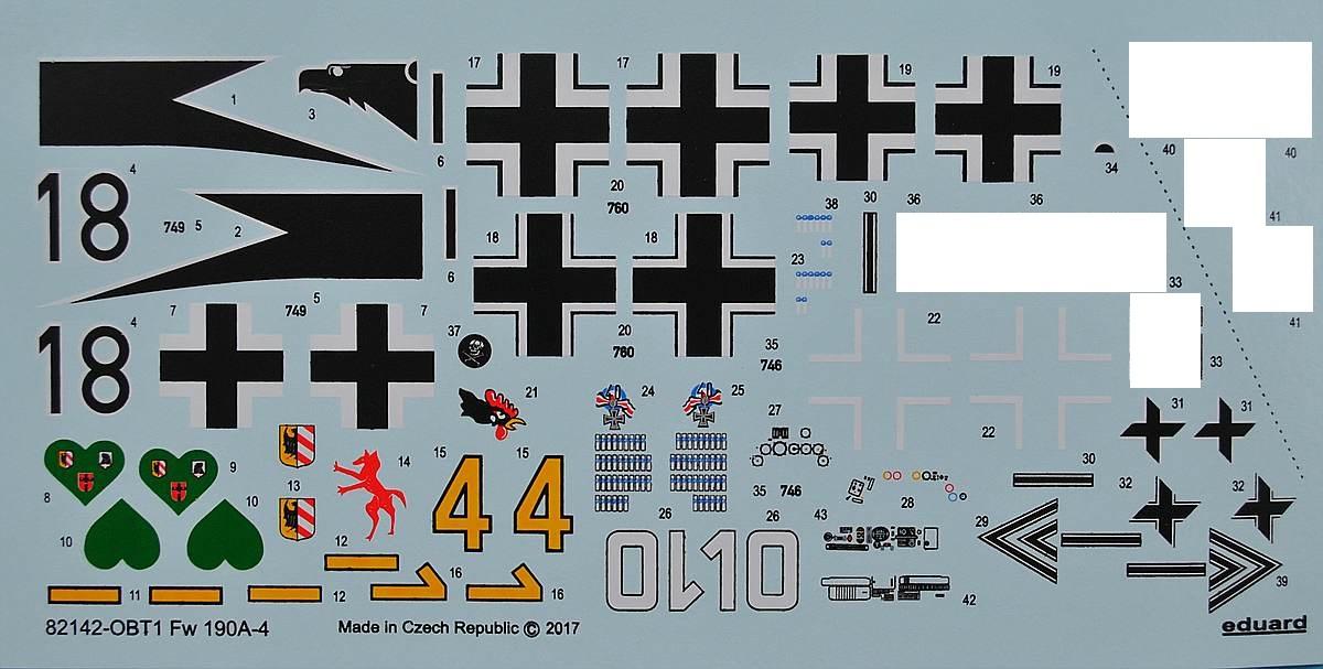 Eduard-82142-FW-190-A-4-Profipack-21 Focke Wulf FW 190 A-4 in 1:48 von Eduard als PROFIPACK-Edition 82142