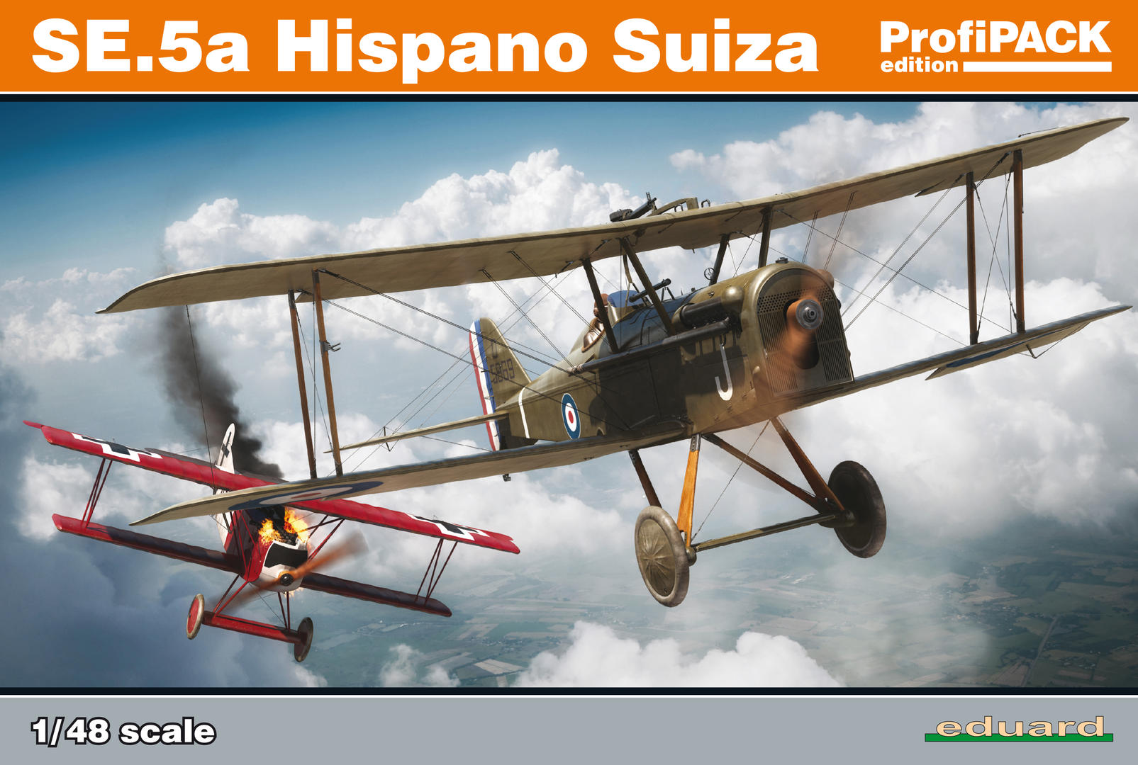 Eduard82132-SE.5a-Hispano-Suiza-PROFIPACK-Deckelbild SE.5a Hispano Suiza in 1:48 als PROFIPACK-Edition (Eduard 82132)