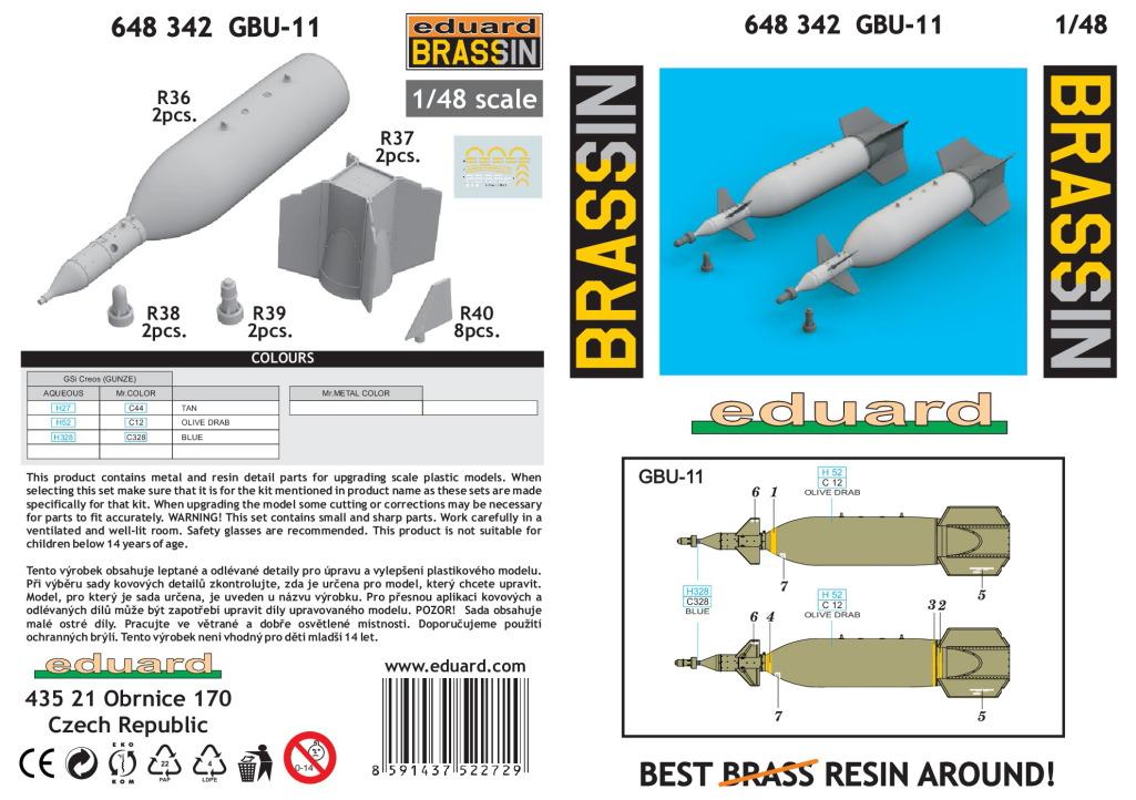 Eduard_BRASSIN_GBU-11_07 Lasergesteuerte 1400kg-Bombe GBU-11 - Eduard BRASSIN 1/48