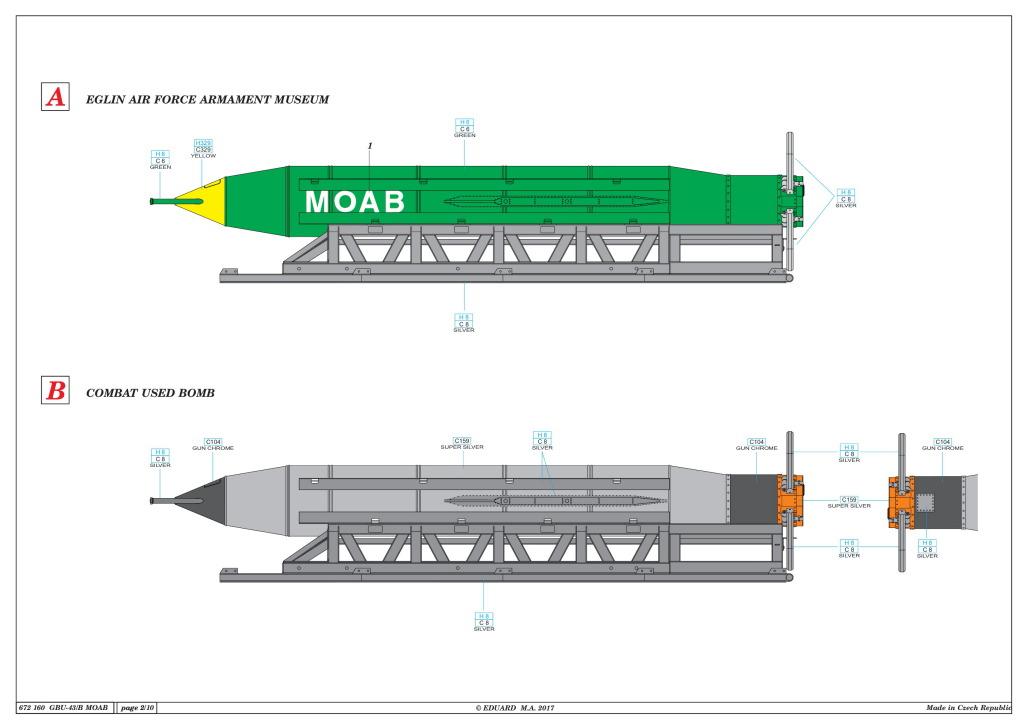 "Eduard_BRASSIN_MOAB_19 GBU-43/B Massive Ordnance Air Blast (""MOAB"") - Eduard BRASSIN 1/72"